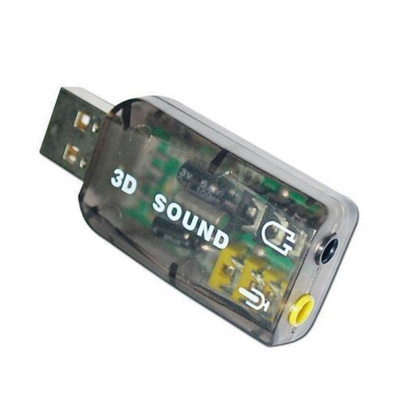 Adaptador USB Sound Card Audio Virtual 3D Channel External 7.1 (201153546145)
